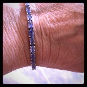 Jewelry - Natural Blue Tanzanite Sterling Silver Bracelet.